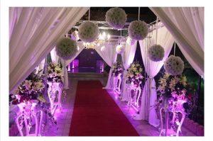 تزئینات یک تالار عروسی در تهران